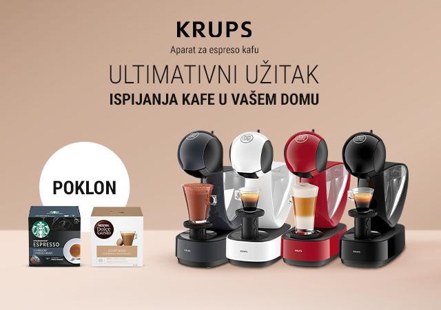 Krups Espresso aparati + pokloni