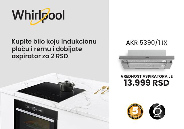 Aspirator za 2 RSD uz odabrane Whirlpool uređaje