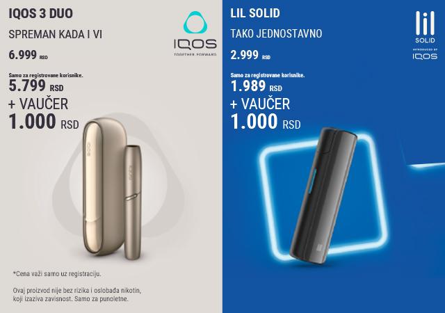 IQOS 3 DUO i Lil Solid po sniženim cenama + poklon vaučer