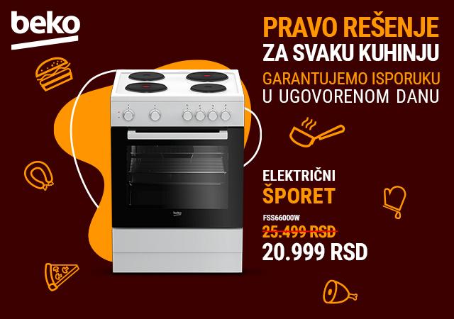 Beko električni šporet po sniženoj ceni od 20.999 RSD