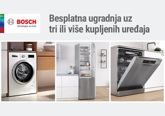 Besplatna ugradnja uz tri ili više Bosch uređaja bele tehnike