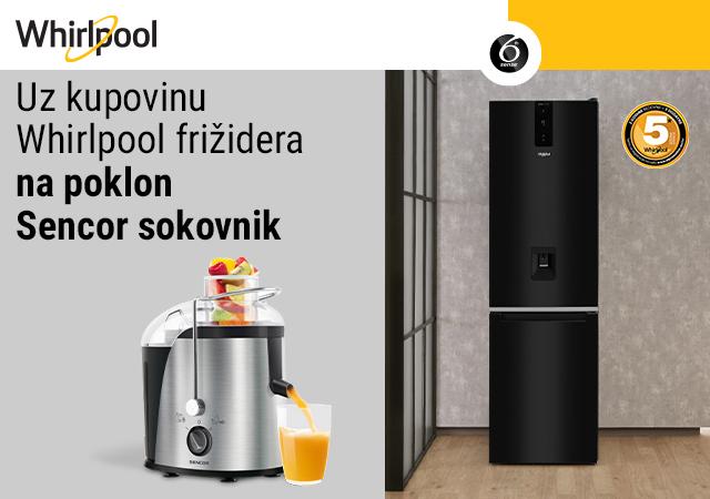 Uz Whirlpool frižider - poklon Sencor sokovnik
