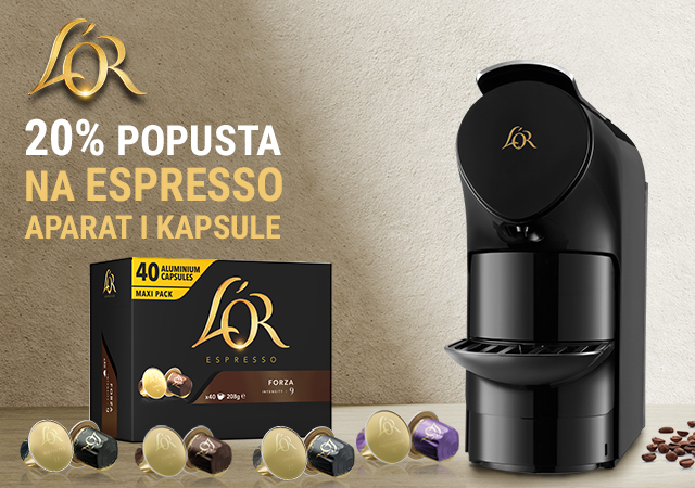20% popusta na L'OR espresso aparat i kapsule