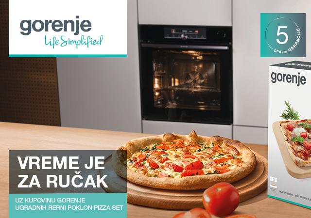 Poklon pizza set uz Gorenje ugradnu rernu na popustu