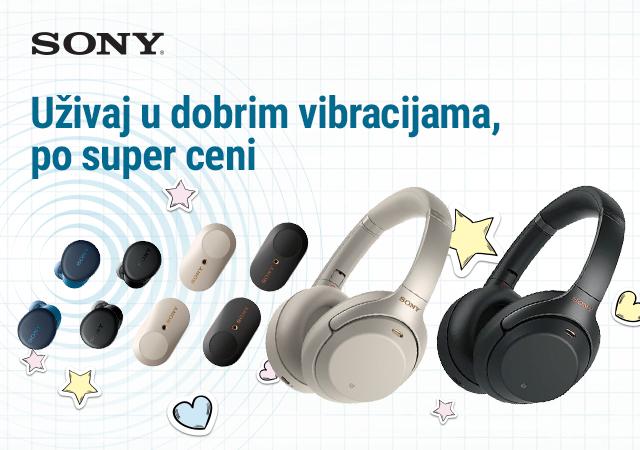 Snižene cene odabranih Sony bežičnih slušalica