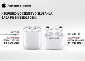 Snižene cene AirPods i AirPods Pro slušalica