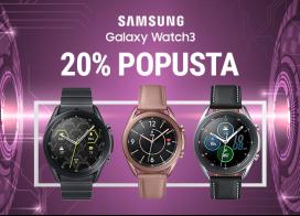 20% popusta na Galaxy Watch 3 pametne satove