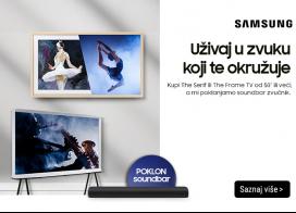 Uz odabrane Samsung televizore poklon Soundbar zvučnik