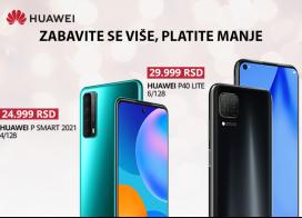 Super cene HUAWEI P Smart 2021 i P40 Lite telefona