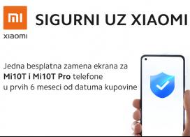 Besplatna zamena ekrana za Xiaomi Mi 10T i Mi 10T Pro