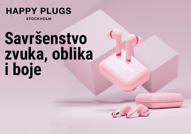 Happy Plugs bežične slušalice u novoj roze boji