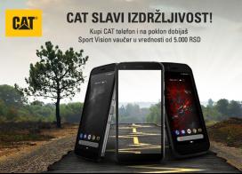 CAT Telefoni + poklon Sport Vision vaučer