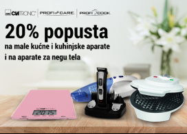 20% popusta na odabrane male kućne aparate