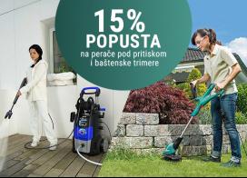 15% popusta na perače pod pritiskom i baštenske trimere