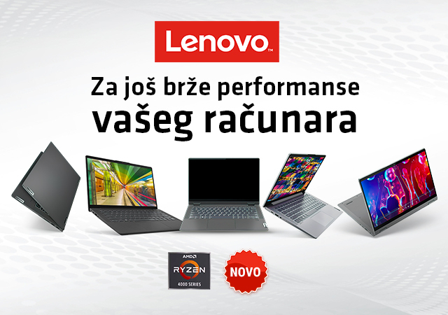 Lenovo laptop računari sa AMD Ryzen 4000