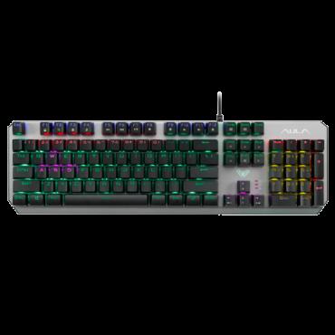 AULA Gejmerska tastatura Dawnguard (Srebrna)  USB, Mehanički tasteri, EN (US), 1,6 m