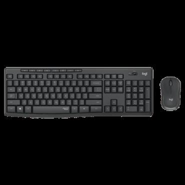 LOGITECH Bežična tastatura i miš MK295 Silent Wireless (Crna) 920-009800  USB nano prijemnik, Membranski tasteri, EN (US), Alkalna baterija