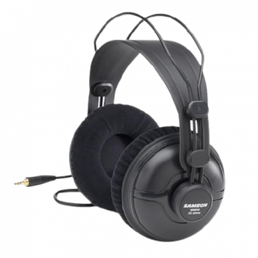 SAMSON Žične slušalice SR950 (Crne)  3.5mm + 6.3mm adapter, 10Hz - 25KHz, 96dB, 50mm