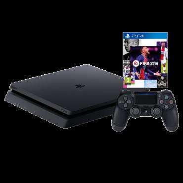 SONY konzola PLAYSTATION 4 SLIM 500GB + FIFA 21  PS4, 1 kontroler, Crna