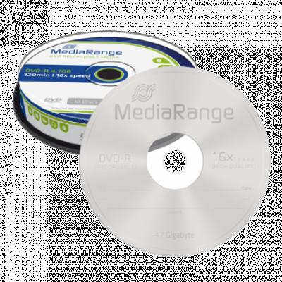 Optički disk MEDIA RANGE DVD-R 4.7GB 16x, Cake 10 - MR452  DVD-R, 4.7 GB