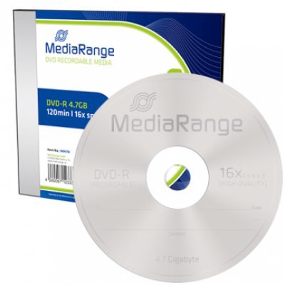 Optički disk MEDIA RANGE DVD-R 4.7GB 16x, Slimcase - MR418  DVD-R, 4.7 GB