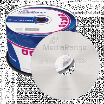 Optički disk MEDIA RANGE CD-R 700MB 52x, Cake50 - MR207  CD-R, 650 – 700 MB