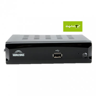 HORIZONS S RF digitalni DVB-T2 prijemnik sa RF modulatorom  HDMI, Scart, USB, RF, Crna