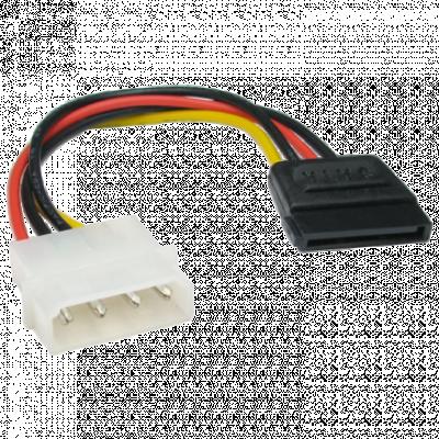 LINKOM kabl za napajanje S-ATA HDD-A 0.15m  SATA kabl, Molex, SATA naponski (ženski)