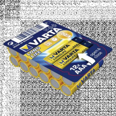 VARTA Longlife alkalna baterija 12 x AAA  Alkalna baterija, AAA (LR3), 12/1