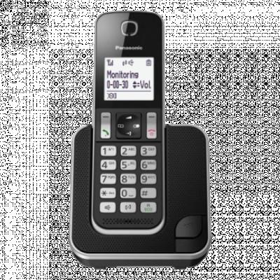 PANASONIC DECT KX-TGD310FXB  Bežični telefon, Crna