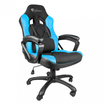 GENESIS gejmerska stolica Nitro 330 (Crna/Plava)  do 150 kg, Eko koža, tkanina
