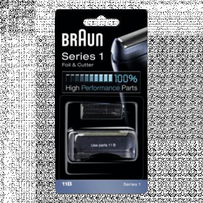 BRAUN Rezervna mrežica i nož za brijač 11B  Crna