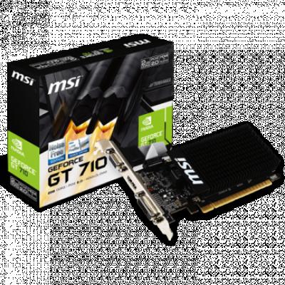 Grafička karta MSI nVidia GeForce GT 710 2GB GDDR3 64bit - GT 710 2GD3H LP  Nvidia GeForce GT 710, 2GB, GDDR3, 64bit