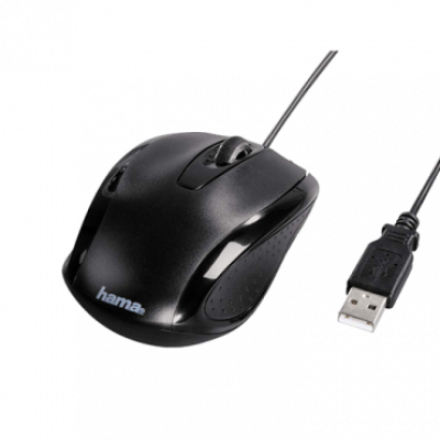 "Hama ""AM-5400"" Optical Mouse (Black) - 86560  Optički, 800dpi, Simetričan (pogodan za obe ruke), Crna"