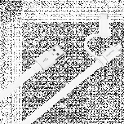 HUAWEI Micro USB kabl sa USB C adapterom, AP55S, 1.5m (Bela) - 4071417,  USB 2.0 - do 480 Mbps, USB-A, Micro USB-B + USB-C, Pljosnat (Flet)