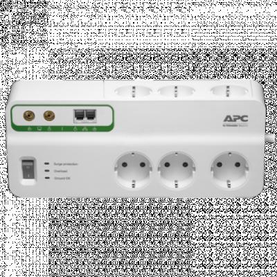 APC Home/Office SurgeArrest 6 utičnica sa zaštitom za telefon i koaksijalni kabl - PMH63VT-GR  6 utičnica