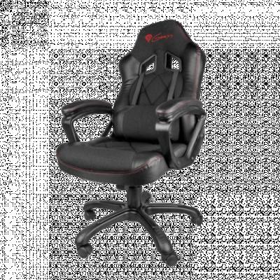 GENESIS gejmerska stolica SX33 (Crna)  do 150 kg, Eko koža, tkanina