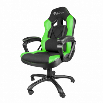 GENESIS gejmerska stolica SX33 (Crna/Zelena)  do 120 kg, Eko koža, tkanina