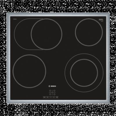 BOSCH Ugradna ploča PKN645BA1E  Inox/Crna, Staklokeramička, Senzorsko upravljanje (Na dodir)