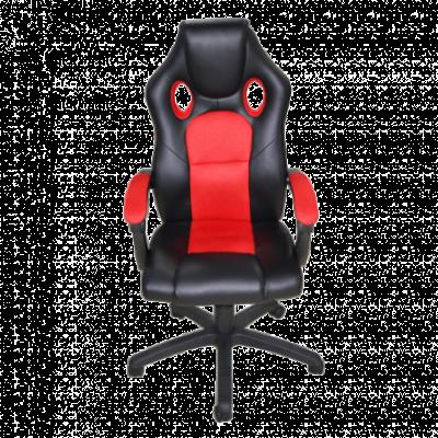 AH SEATING gejmerska stolica DS-088-R (Crna/Crvena)  do 100 kg, Eko koža, platno