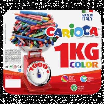 Flomaster CARIOCA Color 1kg 50200/B  Komplet boja, Filcani vrh, 125 kom