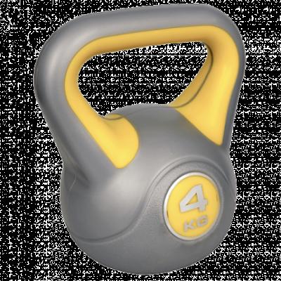 RING Kettlebell 4kg - RX DB2819-4  Srebrna/Žuta