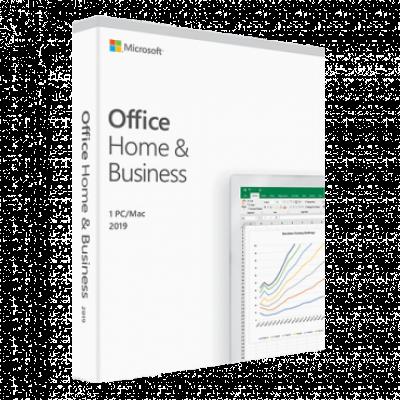 Softver MICROSOFT Office Home and Business 2019 Medialess - T5D-03245  Engleski, Komercionalna i kućna upotreba, Jednokratna kupovina