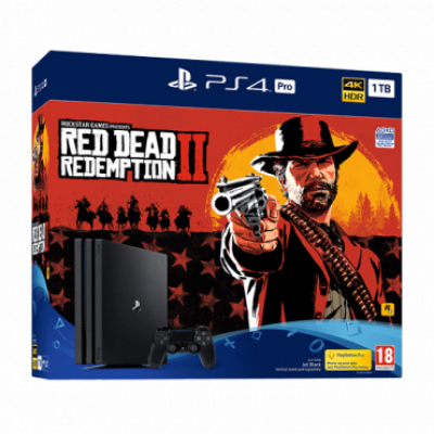 SONY konzola PLAYSTATION 4 PRO 1TB + RED DEAD REDEMPTION 2 -  PS4, 1 kontroler, Crna