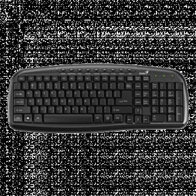 GENIUS Žična tastatura KB-M225C (Crna)  USB, Membranski tasteri, SRB (YU)