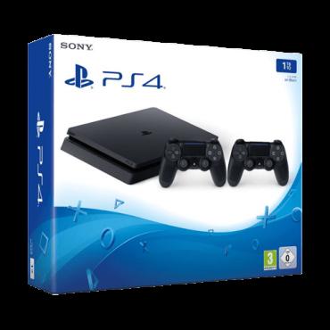 SONY konzola PLAYSTATION 4 SLIM 1TB -  PS4, 2 kontrolera, Crna