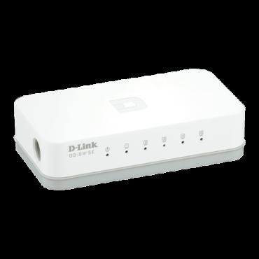 D-LINK Switch GO-SW-5E  Neupravljivi, 5 RJ-45 portova, 2K, 1Gbps