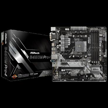 Matična ploča ASRock B450M PRO4  AMD, AMD® AM4, AMD® B450, Micro ATX