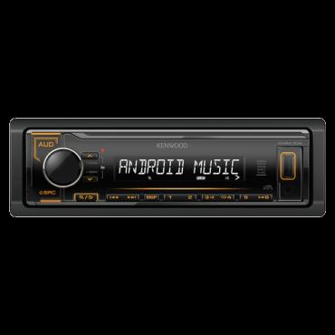 Auto radio KENWOOD KMM-104AY  Tjuner/USB/AUX, MOSFET 4 x 50W, MP3, WMA, WAV, FLAC, 1 DIN