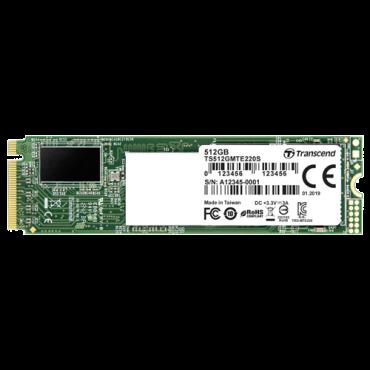 TRANSCEND PCIe SSD 220S - TS512GMTE220S  512GB, M.2 2280, PCIe, do 3500 MB/s